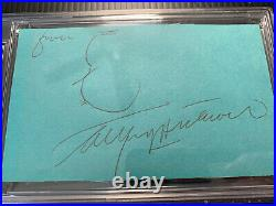 Alfred Hitchcock Signed Autographed PSA/DNA PSA Self Scetch Rare Birds Psycho