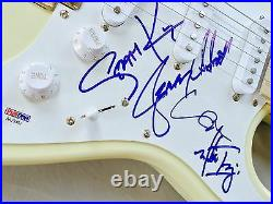 Alice In Chains Layne Staley Cantrell Signed Autographed Guitar Psa Proof Coa