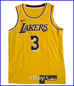 Anthony Davis Autographed Los Angeles Lakers Nike Basketball Jersey PSA DNA 1