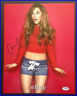 Ariana Grande Signed 11x14 Photo Autograph Psa Dna Coa #x07415