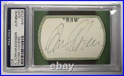Arnold Schwarzenegger PSA DNA Certified Cut Auto Autograph Signature Authentic