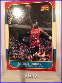 Authentic1986 Fleer Michael Jordan PSA/DNA and UDA rookie autograph