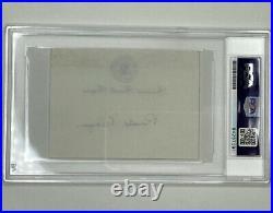 Autographed President Ronald Reagan signature White HousePost-It Note PSA/DNA