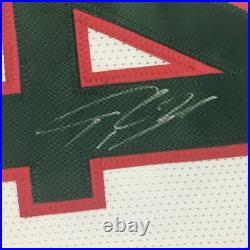 Autographed/Signed GIANNIS ANTETOKOUNMPO Milwaukee Retro Jersey PSA/DNA COA Auto