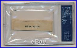 BABE RUTH Cut Autograph Auto PSA/DNA Certified Authentic
