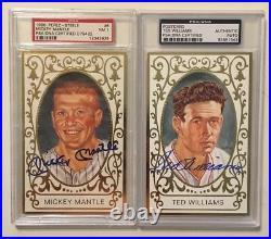 BABE RUTH FOXX OTT MANTLE HANK AARON 27 500 HR Signed Baseball Cards PSA/DNA BAS