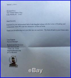 BABE RUTH RARE Grade 7 SIGNED AUTOGRAPH BASEBALL Claire Julia PSA/DNA COA