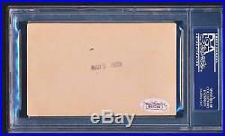 BABE RUTH Signed Autographed 1933 3x5 Photograph JSA PSA/DNA Gem Mint 10
