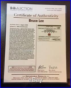 BRUCE LEE Signed Autographed Jun Fan Gung Fu Membership Card PSA/DNA & RRA COA