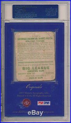 Babe Ruth Cut Auto Autograph + 1933 Goudey #181 PSA DNA Authenticated 2013 HA