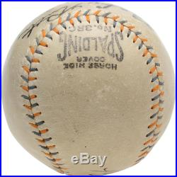 Babe Ruth New York Yankees Autographed Spalding Baseball PSA/DNA Graded 8