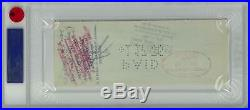 Babe Ruth Signed Authentic Autographed Check Slabbed PSA/DNA #81996980