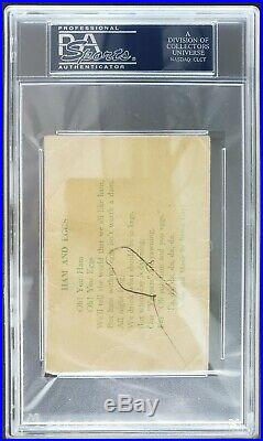 Babe Ruth Signed Autograph Psa/dna Authentic