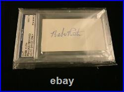 Babe Ruth Signed Blank Index Card Psa/dna Autographed New York Yankees Psa 9