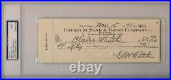 Babe Ruth Signed Check Twice signed and Claire Ruth PSA 9 Encapsulated! Beckett