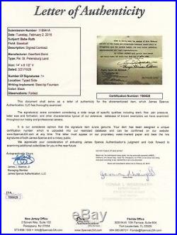 Babe Ruth Signed George Herman Ruth 1928 Contract Psa/dna Certified Autograph