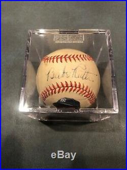 Babe Ruth Sweetspot Autographed Baseball With Portrait PSA/DNA Authenticated