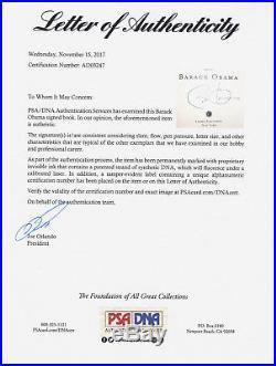 Barack Obama Signed The Audacity Of Hope 1st Edition/1st Print Book Psa/dna Coa