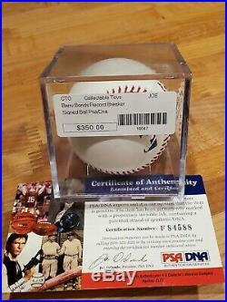 Barry Bonds Autograph Signed MLB Baseball AUTO PSA/DNA COA GIANTS