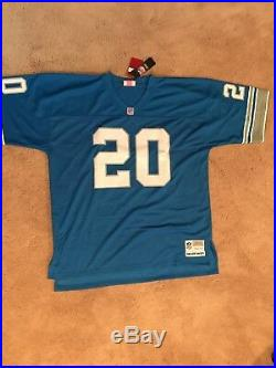 Barry Sanders Autographed Blue Mitchell & Ness Jersey Psa/dna
