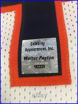 Bears Walter Payton Auto Autograph Signed 5 Stat Inscription Jersey PSA DNA COA