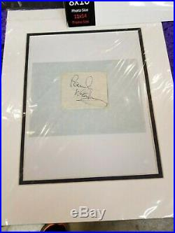 Beatles Paul Mccartney Vintage Fully Signed Autograph Psa/dna Rnr Not Butcher