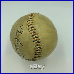 Beautiful Babe Ruth & Lou Gehrig Signed Autographed 1920's Baseball PSA DNA COA