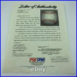 Beautiful Roger Maris & Mickey Mantle Signed Autographed Baseball PSA DNA COA