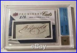 Benedict Arnold 1/1 Cut Autograph 2009 Upper Deck Prominent Cuts Auto UD PSA DNA