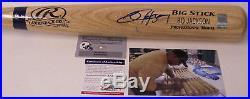 Bo Jackson Autographed Hand Signed Adirondack Pro Wood Baseball Bat Psa/dna