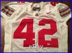 Bobby Carpenter Game Used Autographed Jersey Signed Ohio State Buckeye PSA/DNA
