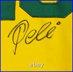 Brazil Pele Signed Soccer Jersey Autographed PSA DNA COA