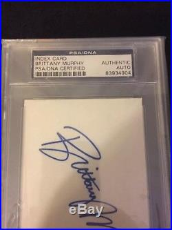 Brittany Murphy Signed Autograph Cut Card PSA DNA Encapsulated Photo