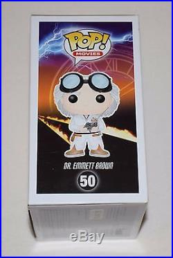 CHRISTOPHER LLOYD SIGNED AUTOGRAPHED FUNKO POP FIGURE PSA/DNA AA87734 doc brown