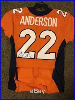 C. J. Anderson 2015 Denver Broncos Game issued and Autographed Jersey PSA/DNA NFL