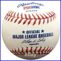 Cal Ripken, Jr. Autographed Mlb Baseball Orioles 1982 Al Roy Psa/dna 16365