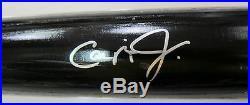 Cal Ripken Jr Hof Autographed Louisville Slugger Baseball Black Bat Psa/dna
