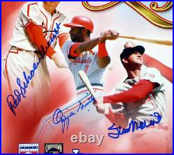 Cardinals Hof'ers Autographed 16x20 Photo 7 Sigs Musial Gibson Psa/dna 19079