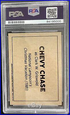 Chevy Chase Signed Card Christmas Vacation PSA/DNA Autograph Caddyshack Griswold