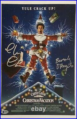 Chevy Chase Signed Poster Christmas Vacation Autographed Movie Pic W DAngelo PSA