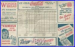 Connie Mack (1862-1956) Signed 1938 Scorecard Psa/dna Certified Autograph Hof