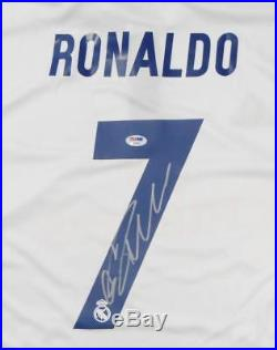 f599b76c1 Cristiano Ronaldo Autographed Real Madrid White Soccer Jersey- PSA DNA Auth