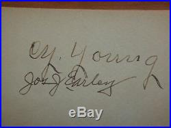 Cy Young Signed Autograph Book Psa/dna Certified Authentic Autographed Bob Hope