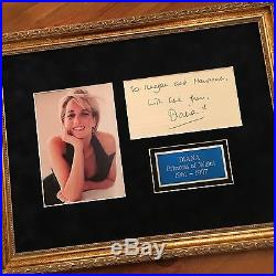 DIANA Princess of Wales PSA/DNA Authentic AUTOGRAPH SIGNED CONCORDE