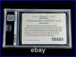 Dale Earnhardt & Richard Petty Psa/dna Dual Signed 1992 Traks Card #a1 Autograph