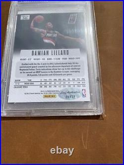 Damian Lillard 2012-13 Prizm PSA/DNA Certified Rookie Autograph #245 RC Auto