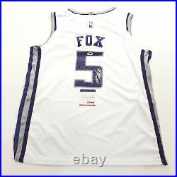 De'Aaron Fox Signed Jersey PSA/DNA Sacramento Kings Autographed