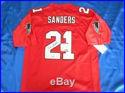 Deion Sanders Signed Autographed NFL Atlanta Falcons Sewn Jersey Psa/dna Coa