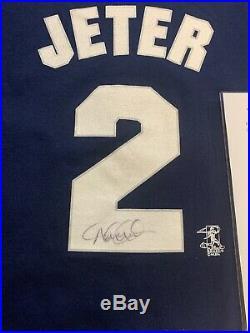 Derek Jeter Autographed New York Yankees #2 Jersey T Shirt Psa/dna Certified