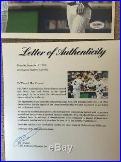 Derek Jeter Ichiro Suzuki Signed 8x10 Autograph Photo PSA DNA LOA Auto Yankees